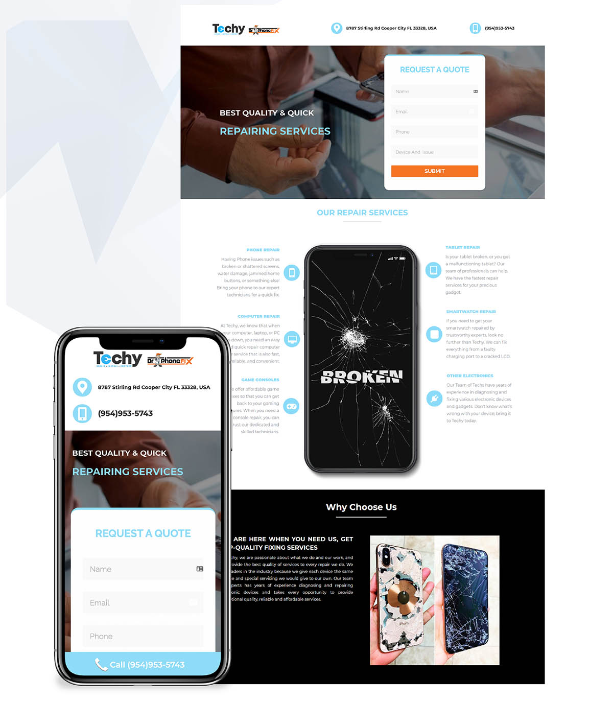 Phone Repair Landing Page Google Ads